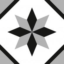 Fliesenaufkleber Quadrat Rosace