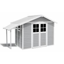 Lodge Gartenhaus hellgrau 7,5 m²