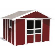 Basic Home Gartenhaus 11 m² Rot
