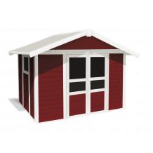Basic Home Gartenhaus 7,5 m2 Rot