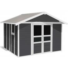 Basic Home Gartenhaus 11 m² Dunkelgrau