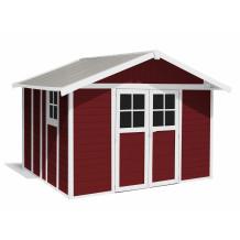 Déco Gartenhaus 11 m² Rot