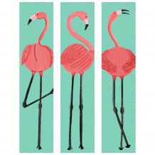Dekorativer Wandrahmen Flamingo