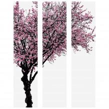 Dekorativer Wandrahmen Baum Farbig