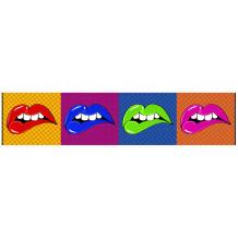 Dekorativer Wandrahmen pano Lip's Wow'Roll