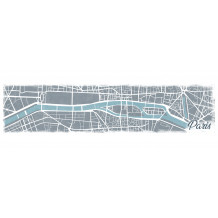 Dekorativer Wandrahmen pano Paris Map