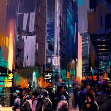copy of Dekoratives Wandelement 3D My City