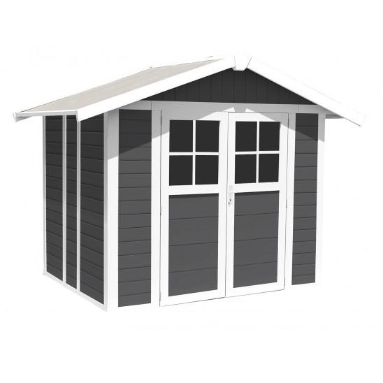 Déco Gartenhaus 4,9 m2 PMMA dunkelgrau