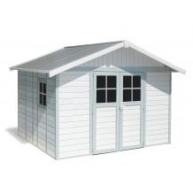 Déco Gartenhaus 11 mĠ weiß - Graublau