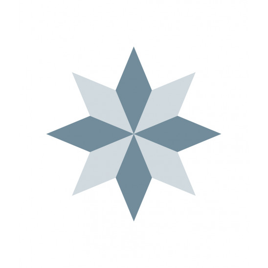 Fliesenaufkleber Diamond Rosace