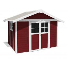 Déco Gartenhaus 7,5 m2 PMMA rot