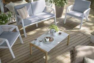 Möbel und Deko für den Außenbereich : ein